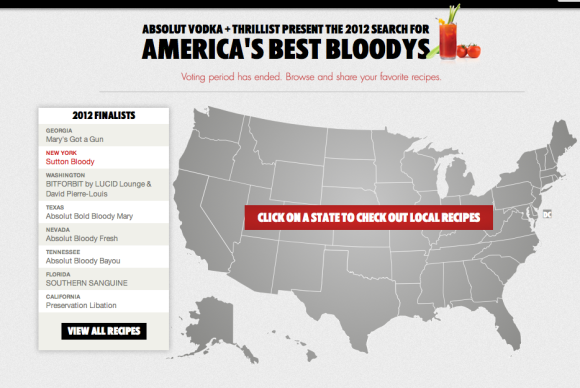 Find your Absolut best bloody